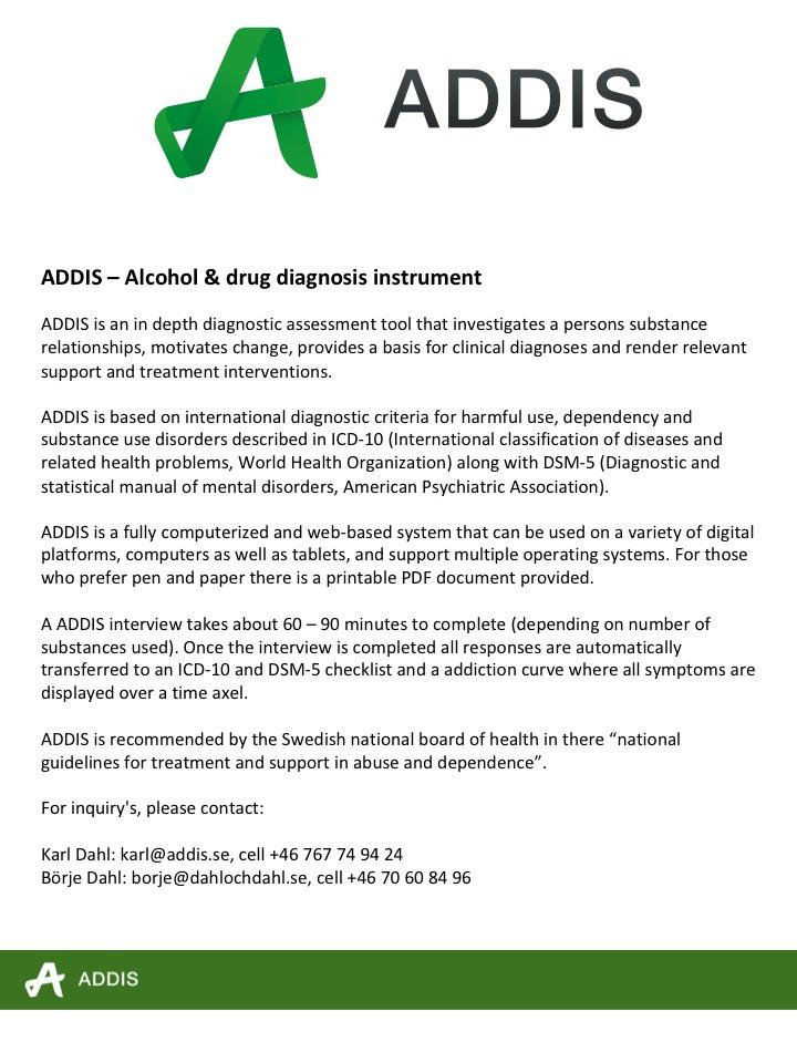 ADDIS description