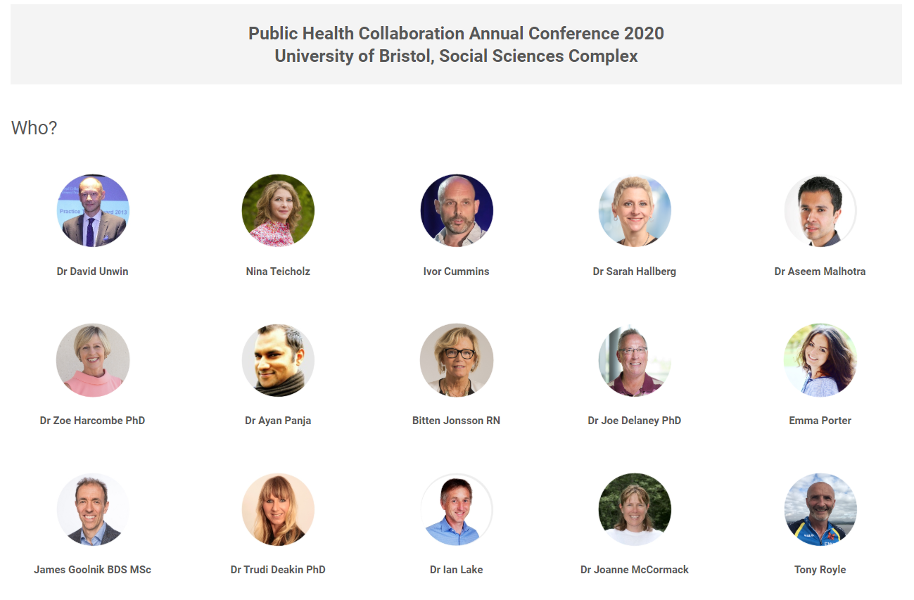 Public health collaboration Speakers