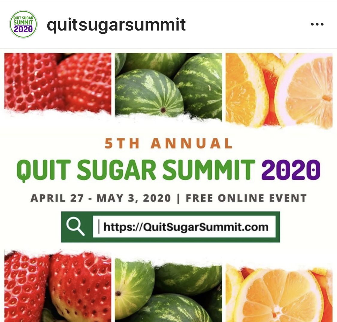 Quit Sugar Summit 2020 poster