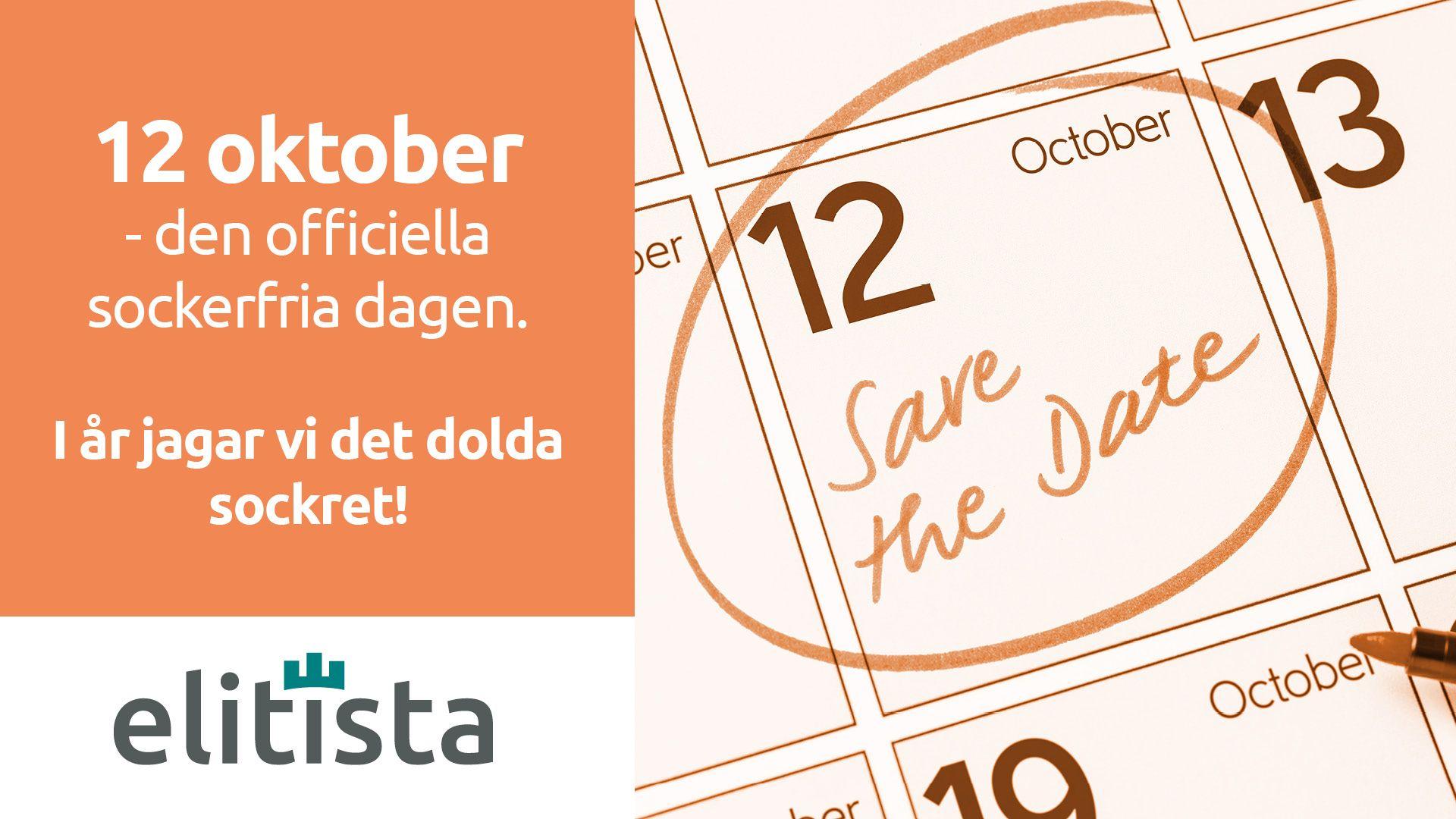 12 oktober Officiella sockerfria dagen - flyer